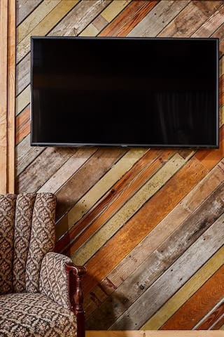 "50"" Smart TV in the King nook. Play your favorite shows from your accounts using your phone as a remote control."