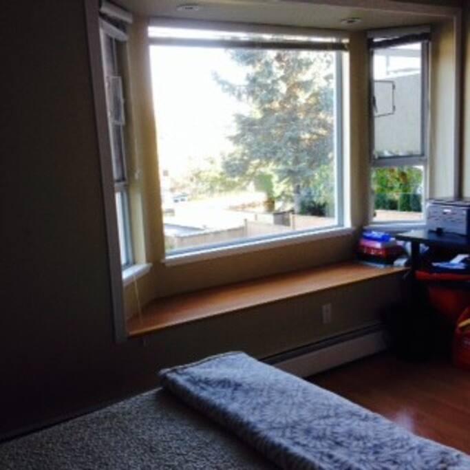Bay windows in the Master bedroom