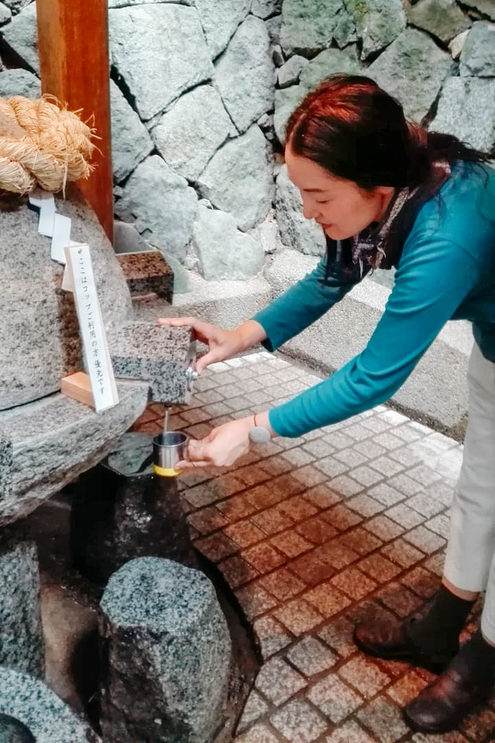 Holy water from Mt. Miwa