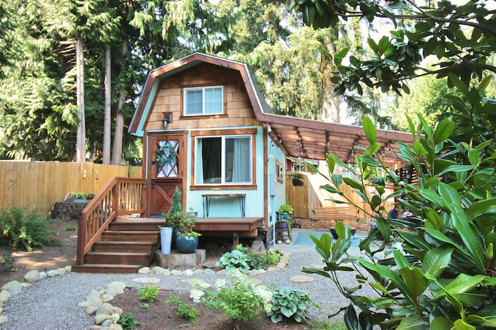 "Tiny Home: stay-cation, work-from ""home""."