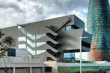 Barcelona design HUB and torre agbar. 6 minutes walking