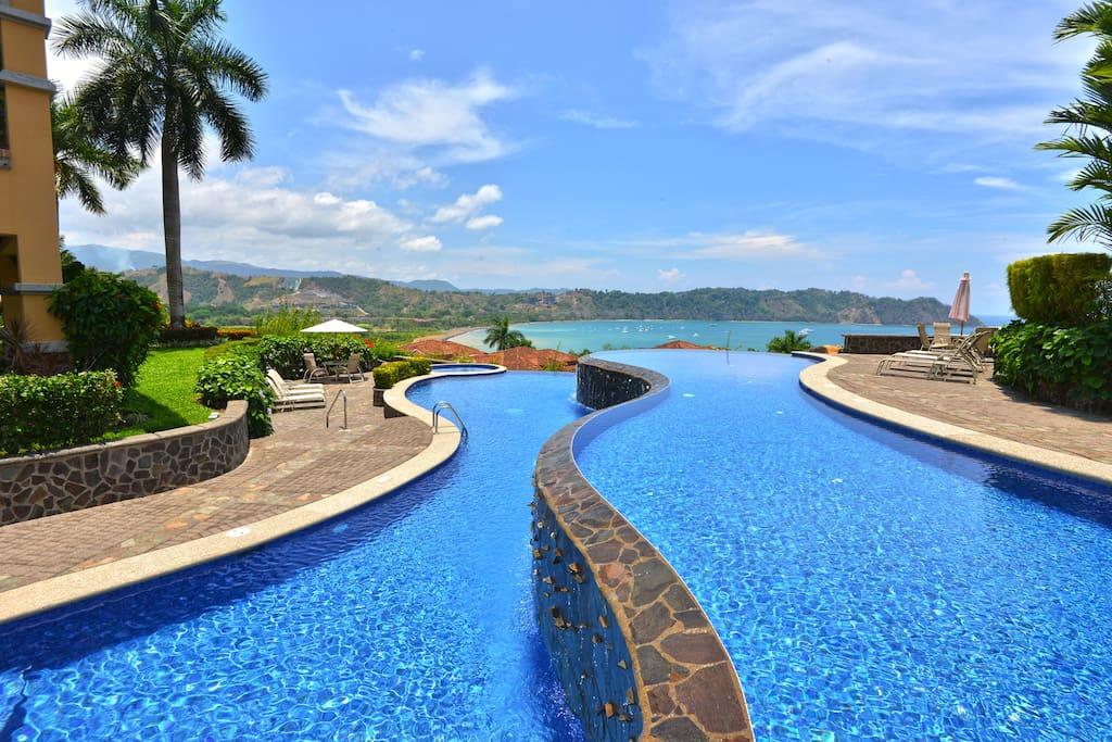 Pool area at Altamira