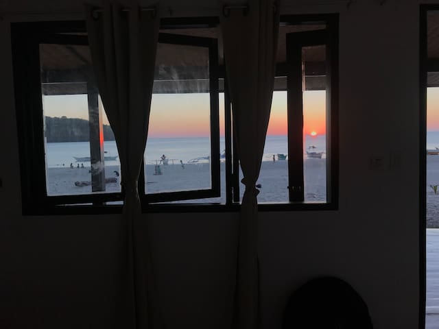 You can watch sunset from your room.