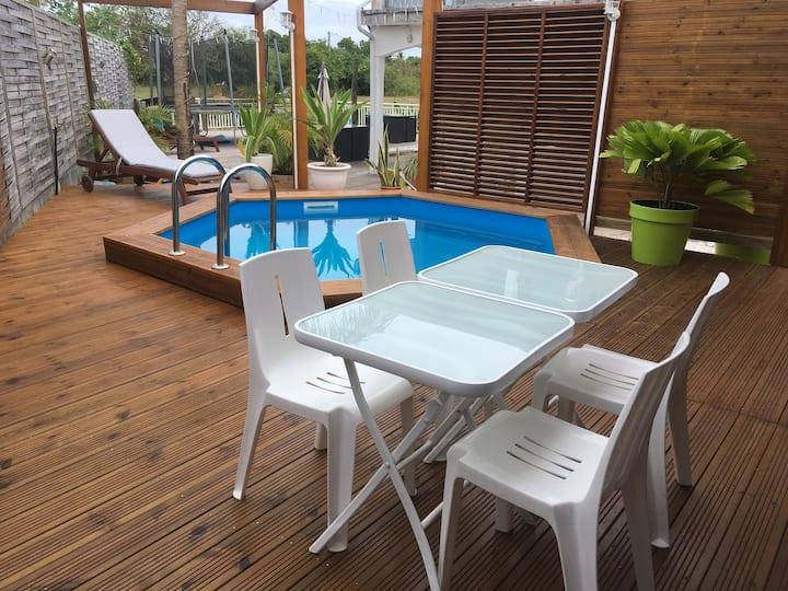 Lilirose Bungalow, wifi, piscine privée