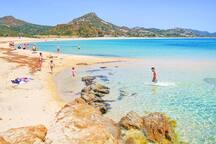 La spiaggia di Costa Rei.