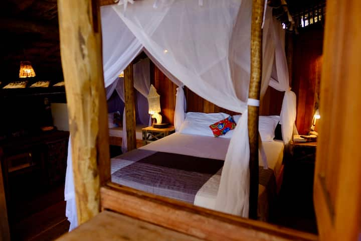 Casa por do Sol - quarto do bungalow 1