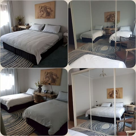 Cozy twin share or King sized bedrooms (bedroom 1)