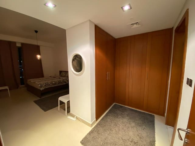 Private wardrobe spaces - not for guest use