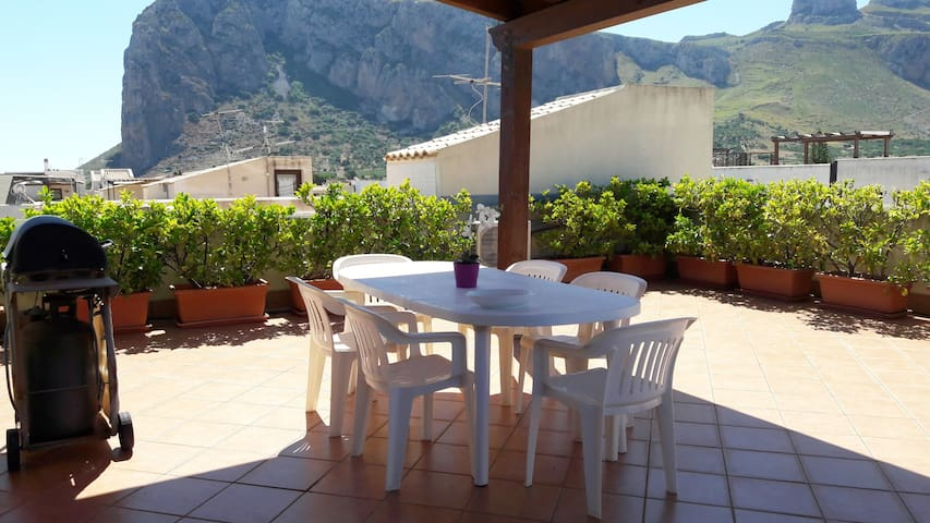 San Vito Lo Capo, house with terrace with sea view