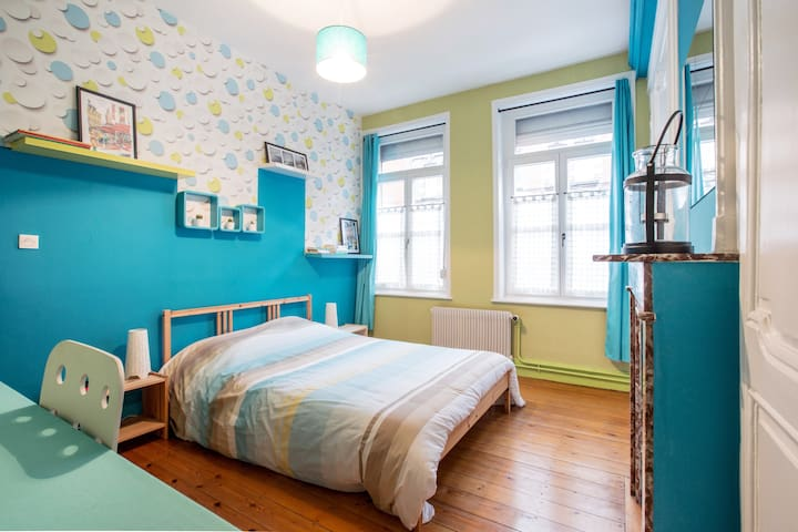Jolie chambre dans maison bourgeoise+ sdb privée - Lille - Huis