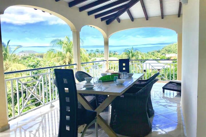 Villa de 5 chambres à Deshaies, avec magnifique vue sur la mer, piscine privée, jardin clos - à 250 m de la plage