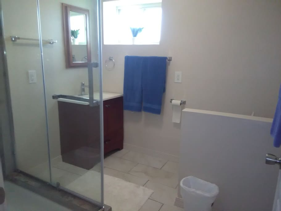 Private Bathroom completely  remodeled and Clean
