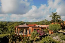 Your own very private terrace overlooking gardens ocean and mounatains