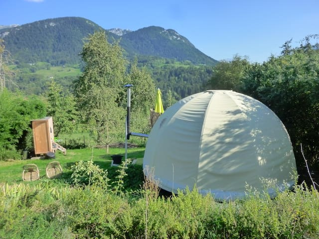 Stay in yurt at nature mountains - Bellecombe-en-Bauges