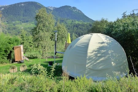 Stay in yurt at nature mountains - Bellecombe-en-Bauges - กระโจมทรงกลม