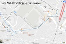 MAP[from Nabari station to our house]