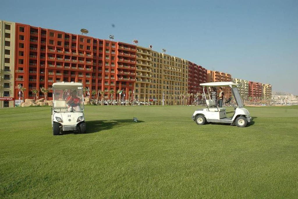 The golf course at Golf Porto Marina