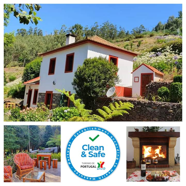 House with one bedroom in Camacha, with wonderful mountain view, enclosed garden and WiFi - 12 km from the beach