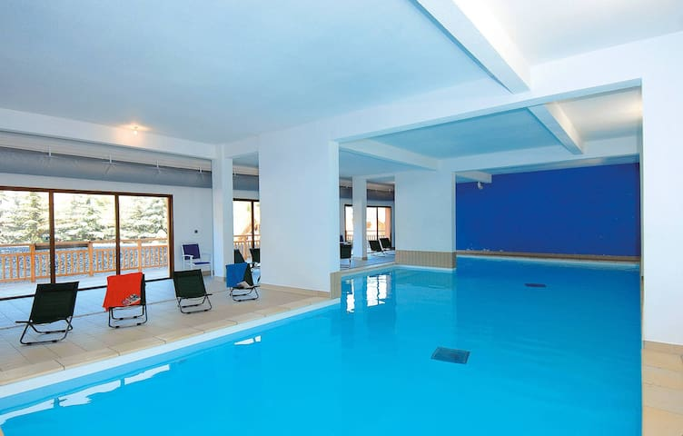 Take a refreshing dip in the indoor pool.