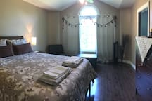 Master bedroom with ensuite 4 pieces full bath, Rainy shower, and physio Hot tub Jacuzzi + Kids adjoining Room