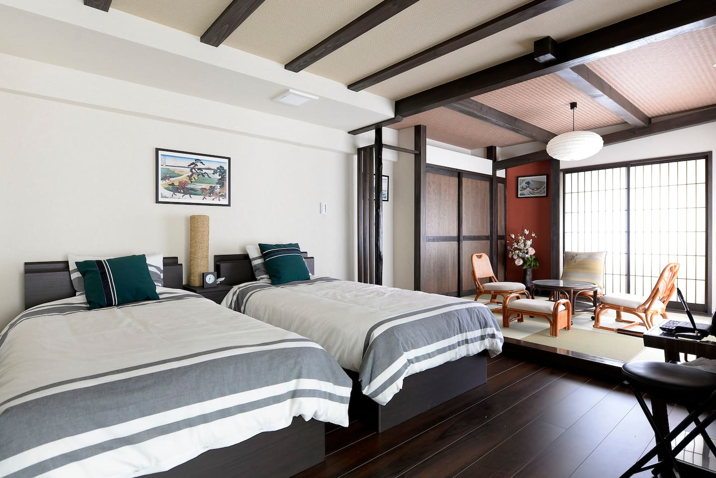 Bedroom and tatami room
