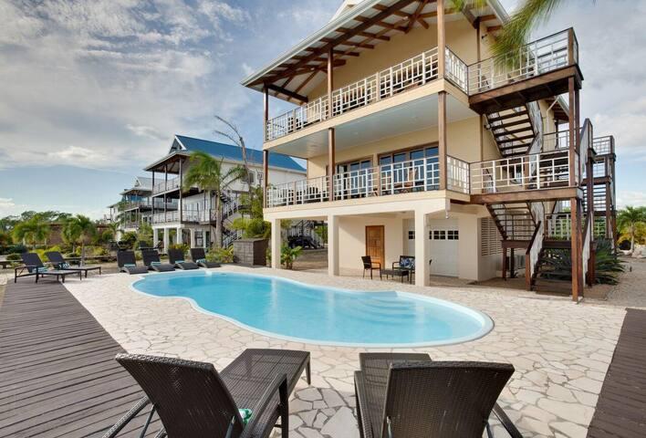 Belize Villa #4- Caribbean Canal