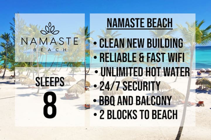 ★ SLEEPS 8 ★ NAMASTE BEACH ★ POPULAR LOCATION ★