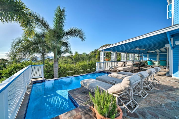 NEW! Airy Nevis Home w/Private Pool & Ocean Views!