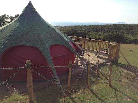 Lotus Tent &  Hot Tub  With  Mountain/Sea Views