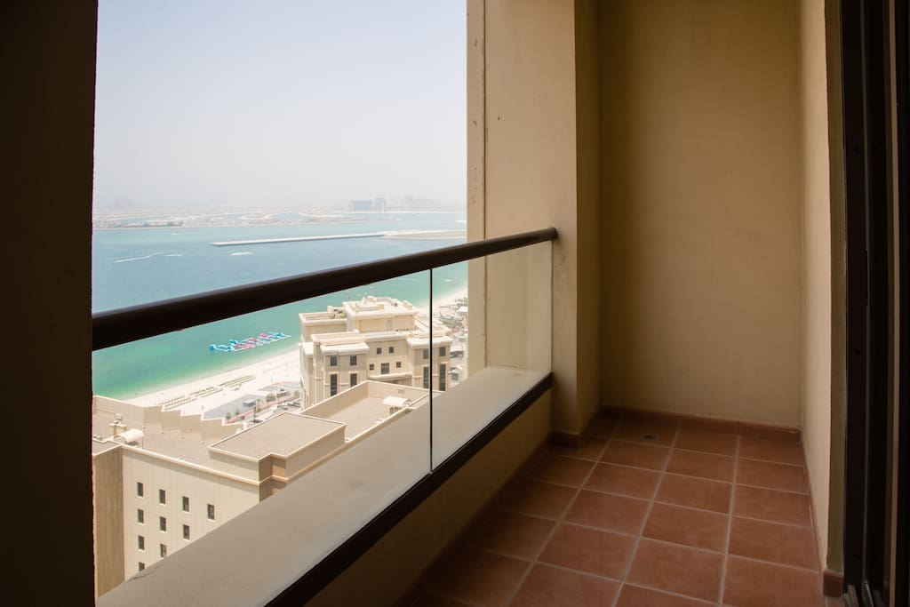 Private balcony with view