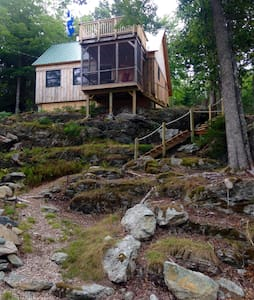 The Perch - cozy cabin near Acadia - Lamoine - Blockhütte