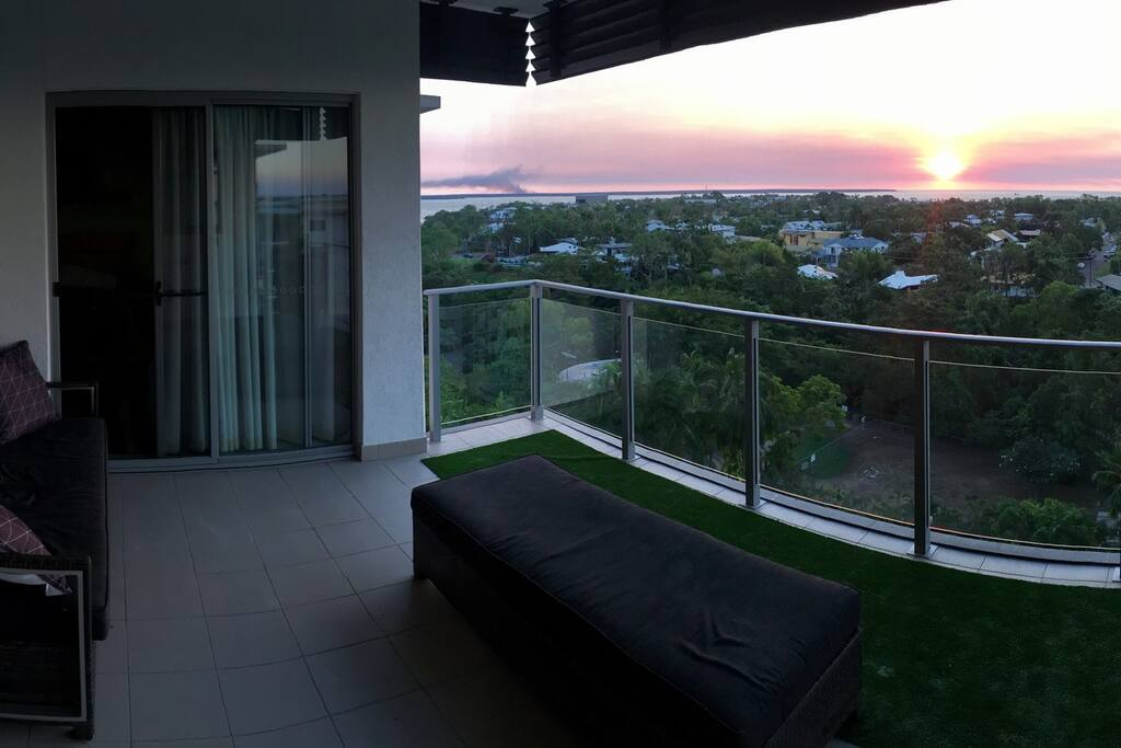 Main balcony on sunset