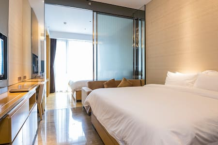 C2 double bed Room 5 stars Apartment-Tian He - Apartamento