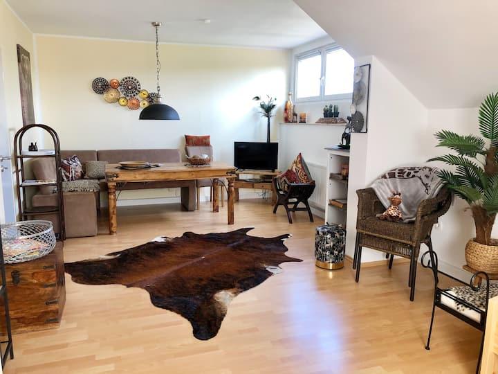 Wohnung 62 qm im Kolonialstil  -  hell und ruhig
