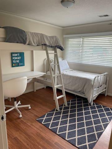 Bedroom. Twin plus loft twin.