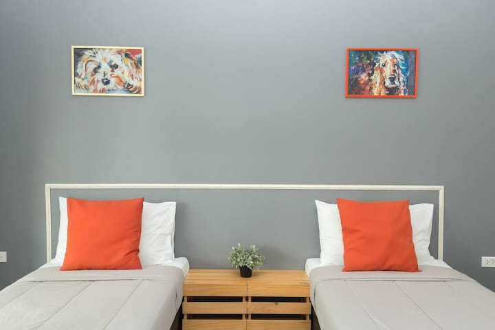 Private Twin Room with Garden view in Chanthaburi