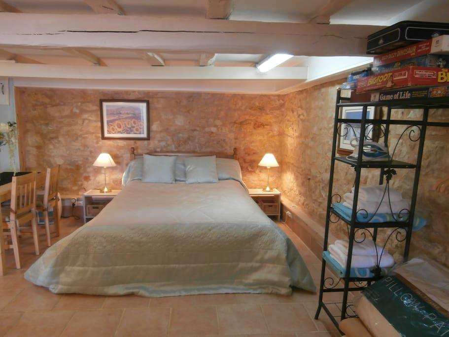 Studio sleeping area