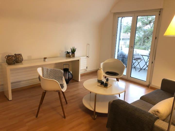 Ruhige Wohnung nah an Basel