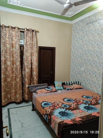 Room number 2 with attached washroom and AC