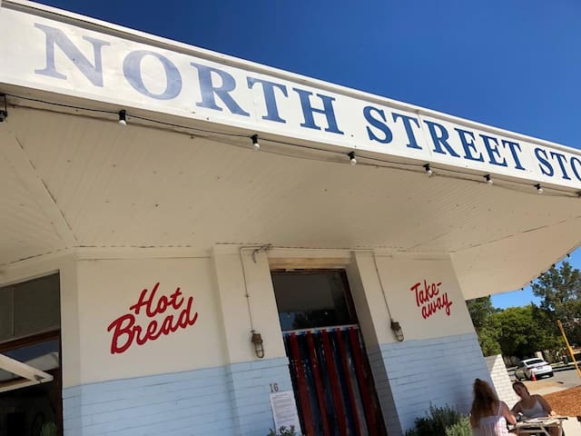 North Street Store makes bakes amazing bread! Often a Q out the door it's so good. Be quick! It's just down the road from us.  . https://northstreetstore.com.au/