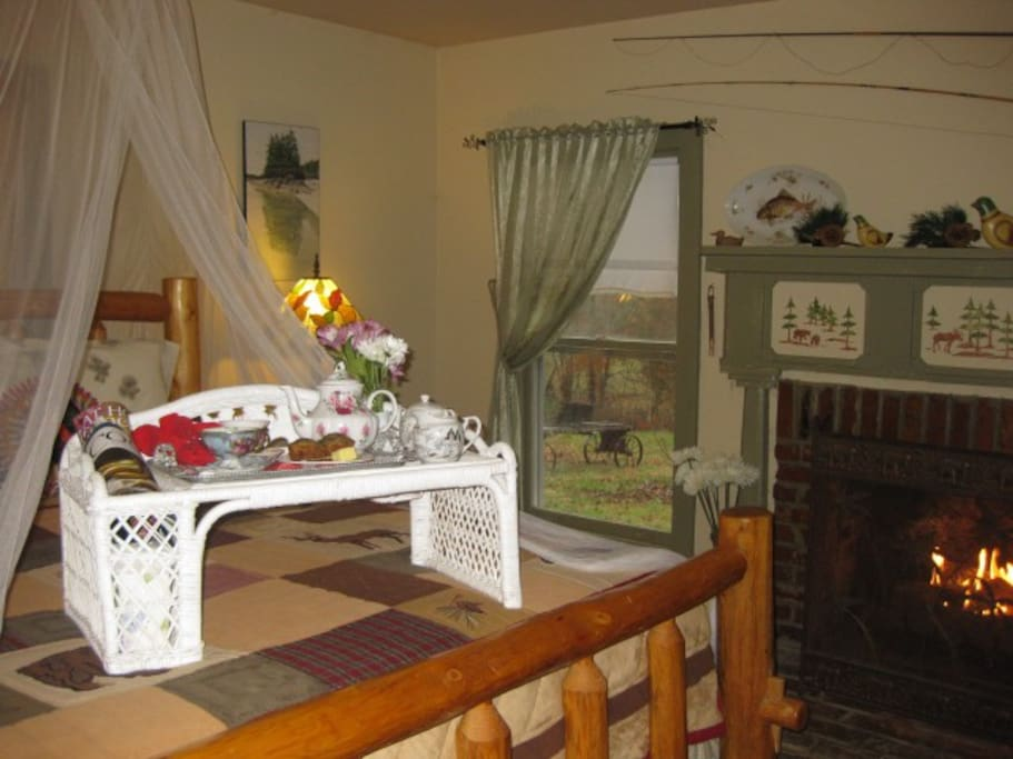 The Wilderness Room with ensuite bath is the perfect romantic place..