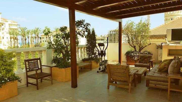 Beautiful Roof-Garden Apartment