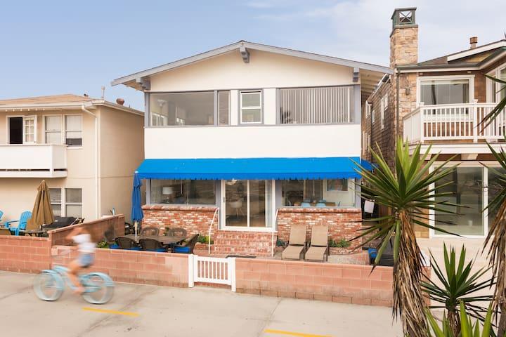 Newport Beach: Ocean Front Home at Balboa Pier