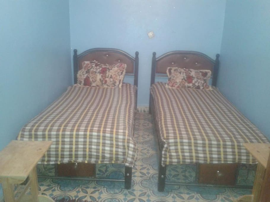 Here are two beds in one room