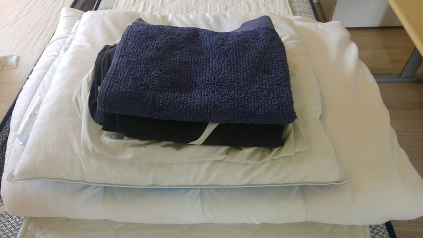 Rent sengetøj og håndklæde