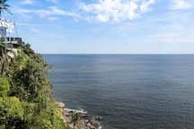 Ilha Porchat, vista e som do mar com garagem!