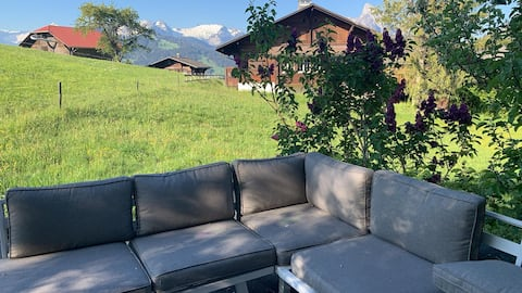 Homey 1 Bedroom Spot in a Swiss Typical Chalet