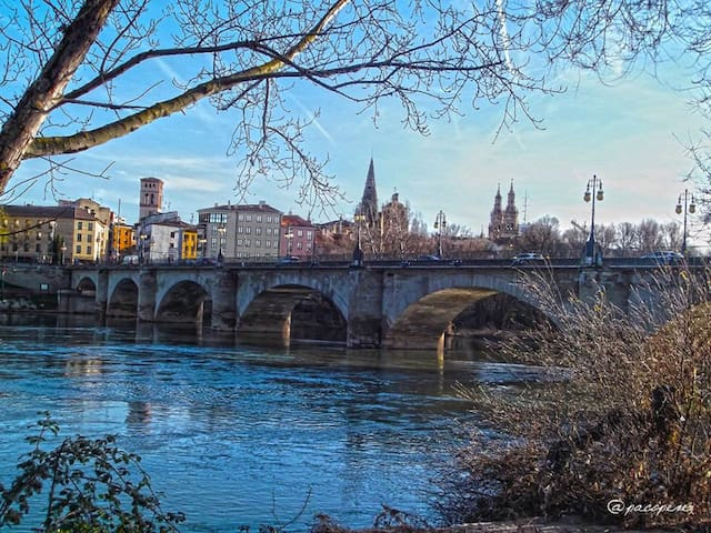 Puente de piedra- El Ebro