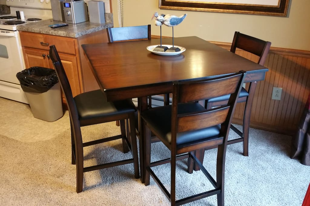 New pub style table and chairs