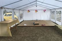 Looking towards the stage end of the marquee.